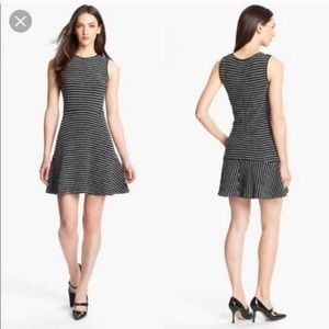 Theory Purposeful Stripe Nikay Black White Dress